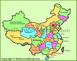 Chongqing China Map by Administrative Map Of China