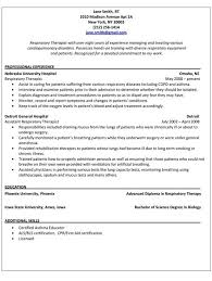 respiratory therapist resume sample massage therapy cover letter