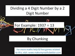 dividing by chunking 4 digit by 2 digit