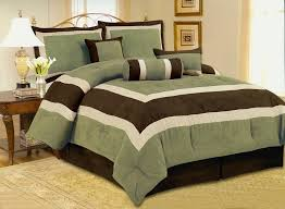 Olive Bedding Sets Amusing High Quality Micro Suede Green Olive Comforter Set