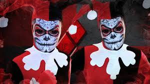best halloween makeup for sugar skull harley quinn sugar skull makeup tutorial youtube