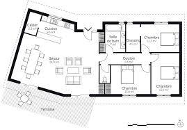 plan de maison 3 chambres salon plan maison plain pied 3 chambres 2 garages en v 1