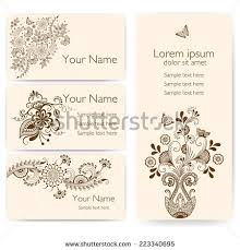 mehndi cards mehndi design stock images royalty free images vectors