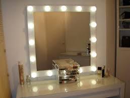 Bedroom Mirror Lights Mirror With Lights Around Freeiam