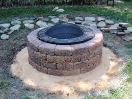 Building A Firepit In Backyard Diy Pit Plans Oo Tray Design Diy Firepit In A Weekend Ideas