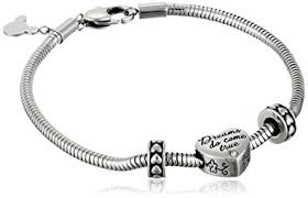 stainless steel bracelet charms images Disney stainless steel heart bead charm 2 stoppers jpg