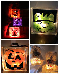 Decorative Glass Block Lights Fall Halloween Glass Block Crafts Glass Block Crafts Block