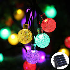 Solar Powered Patio Lights String by Lights Beautiful Outdoor Globe String Lights For Inspiring Home