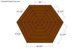 hexagon picnic table plans free garden plans how to build