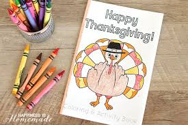 thanksgiving coloring u0026 activity book happiness homemade