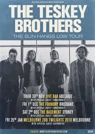 the teskey brothers the sun hangs low tour tickets the foundry
