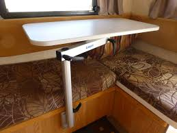 rv table pedestal adjustable five simple adjustable and rotating tables for tiny houses tiny