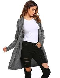 soteer women u0027s basic open front long sleeve warm knit cardigan