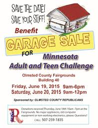 garage sale for charity republican party of olmsted county