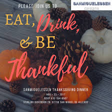 sanmiguelessen cafeteria thanksgiving dinner discover san