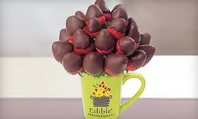 edible deliveries sweet flowers chocolate strawberries bouquet half bouquet from