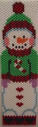 snowman beaded banner made by kareyak creations beading