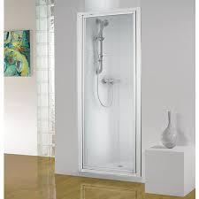 wickes pivot shower enclosure door white frame 760mm wickes co uk