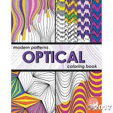 design coloring book modern patterns optical coloring book