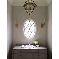 shagreen wallpaper a fantastic window make for one classy powder