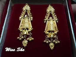 bengali earrings gold jewellery13
