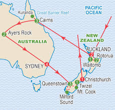 New Zealand And Australia Map Australia And New Zealand March 2018 Craig Travel