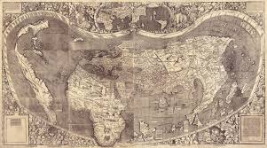 Beautiful World Map by America The Beautiful National Geographic Society
