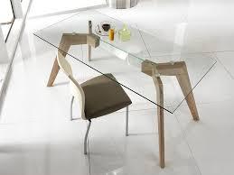 Table En Verre Avec Rallonges by Table Bois Et Verre Avec Rallonge Table Bois Et Verre Design