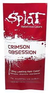 amazon com splat singles hair color dye foil packs 1 5 oz semi