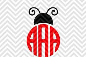 Monogramed Letters Ladybug Monogram Letters Not Included By Kristin Amanda Designs