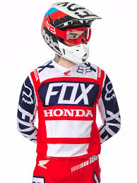 fox motocross gear nz fox red white 2017 180 honda mx jersey fox freestylextreme