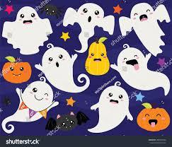 cute halloween ghosts ghouls stock vector 490305334 shutterstock