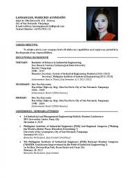sample resume for fresh graduates of tourism management resume