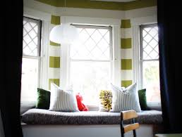 fine white bowl pendant light over bay windows seating added dark