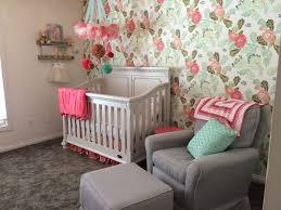 floral wallpaper in the nursery project nursery