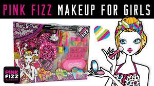 pink fizz makeup for girls mani u0026 pedi pampering party set