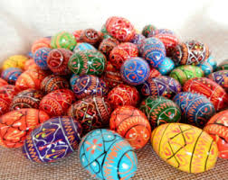 painted wooden eggs etsy