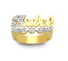 Personalized Name Ring 14k Gold Personalized Name Ring Yellow Gold Name Rings Dreamstone