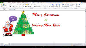 create a blinking christmas tree in excel youtube