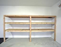 shelf ideahanging wood garage shelves building shelving ideas