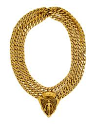 vintage gold chain necklace images Gucci vintage gold crest chain necklace belt from amarcord jpg