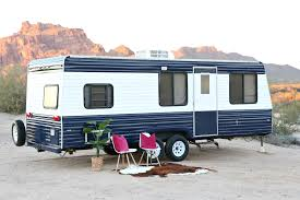 renovated rv travel trailer redo how to paint a travel trailer classy clutter