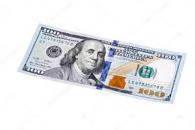 design of us currency one hundred dollar bills isolated sta