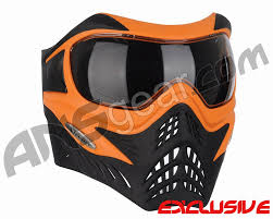 beer goggles motocross v force grill paintball mask se orange black
