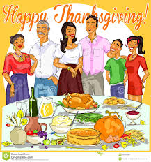 thanksgiving day graphics happy family celebrating thanksgiving day stock vector image