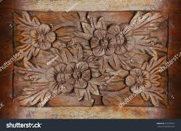 beautiful wood carving flowers wooden floral stock photo 579263911