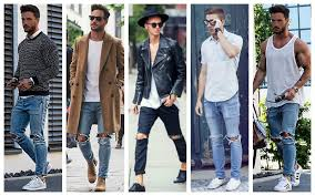 Ripped Knee Jeans Mens Best Men Ripped Jeans Photos 2017 U2013 Blue Maize