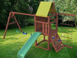 Sears Backyard Playsets Exterior Enchanting Landscape Design With Appealing Wood Gorilla