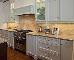 kitchen travertine backsplash white cabinets and backsplash 1000 images about kitchen on