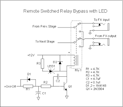 a remote indicating effects bypass system